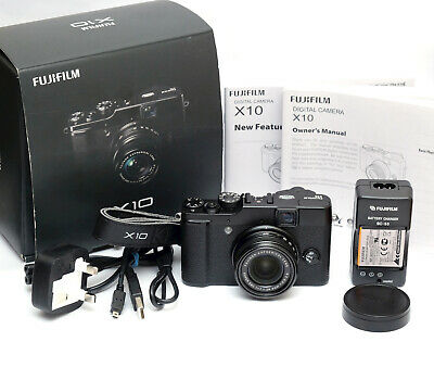 Fuji Fujifilm X10 12.0MP Digital Camera - Black - Boxed - Superb