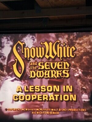 A Lesson in Co-Operation Snow White 16mm Cartoon