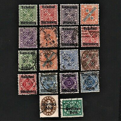 Old Stamps Germany X 18 - German Stamp Collection