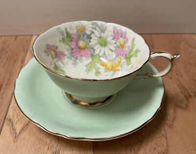 Vintage Porcelain PARAGON TEA CUP AND SAUCER TEACUP Cineraria Floral Flowers