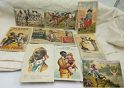 1890's Black Americana Trade Card Collection 10 Different!