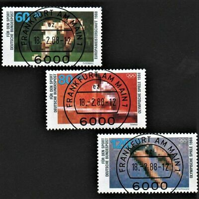 OLD STAMPS GERMANY 1988 cv£10.15 SPORT PROMOTION FUND USED UNH