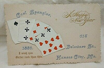 1889 Kansas City Missouri Pre Pro Whiskey Merchant Playing Cards Trade Card