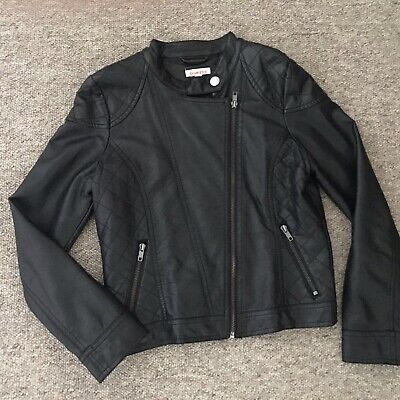 Girls Black Faux Leather Jacket by Blue Zoo at Debenhams Age 11 Years