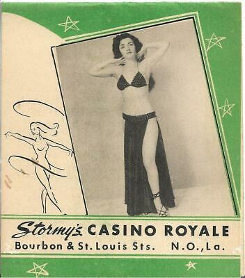 Stormy's Casino Royale New Orleans Louisiana 1950's Cocktail Menu Hadacol