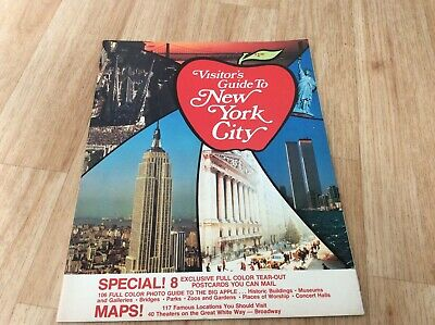 1976-Booklet-Pamphlet-Visitor's Guide To New York City-With Postcards.