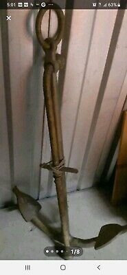 Very Large Old Style Fishermans Anchor