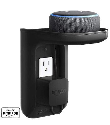 ECHOGEAR Made for Amazon Outlet Shelf EGOS1-B1 for Amazon Echo Devices - Black