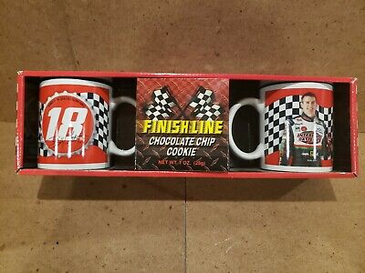Nascar Coca Cola #18 Finish Line Twin Mug Set