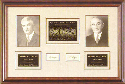 William J. Mayo - Collection With Charles H. Mayo