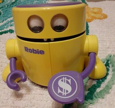 Robie The Banker Robot Bank 1988 by Radio Shack Robie, Works