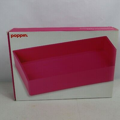 poppin brand office desk accessory tray ---Pink --- new