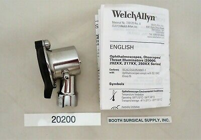 Welch Allyn #20200 3.5V Halogen Pneumatic Otoscope--Excellent Used