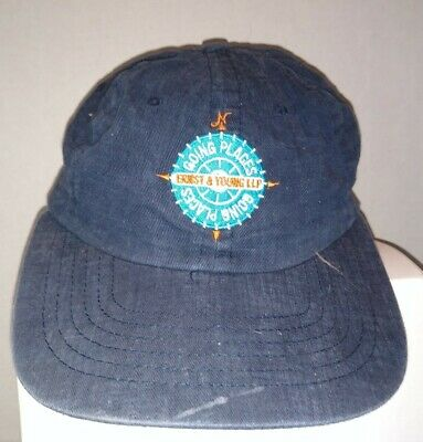 "Ernst And Young Baseball Hat ""Going Places"" Vintage Late 90s"