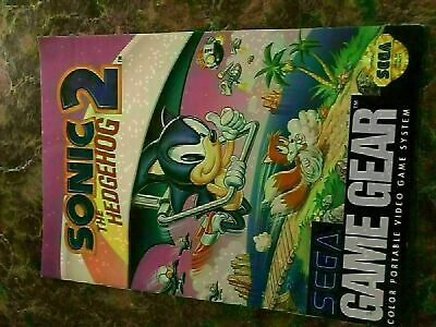 Sonic The Hedgehog 2 - Sega Game Gear - Instruction Manual Only