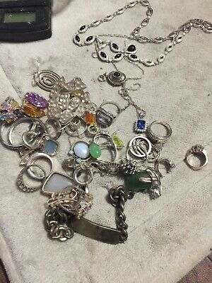 sterling silver scrap Not Wearable Or NotVery Nice Jewelry All Marked  270grams