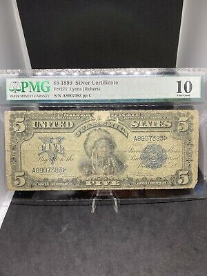 1899 $5 Indian Chief PMG VG10
