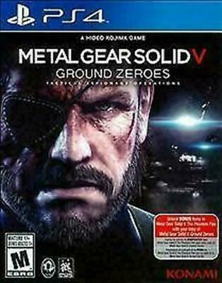 Metal Gear Solid V: Ground Zeroes (Sony PlayStation 4, 2014) DISC IS MINT