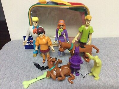 Vintage 1999 Hanna-Barbera Scooby Doo Bend-em Figures & Others Lot