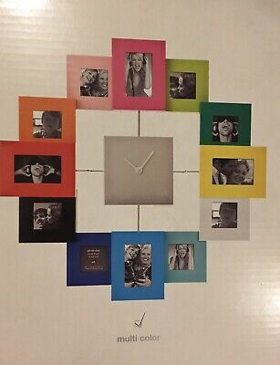 Family Time Multicoloured Colourful Photo Picture Wall Clock NEW