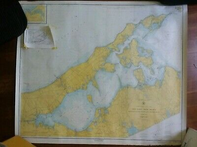 Navigational  Chart NY Long Island Shelter Island Sound 35 X 41.5