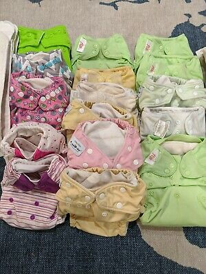 Bumgenius Fuzzibunz Bumkins AIO Cloth Diapers Inserts and Wet Bag - Used