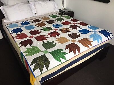 Handmade Patchwork Quilt - Arrow Design - Unique, Locally Made - GIFT IT!!