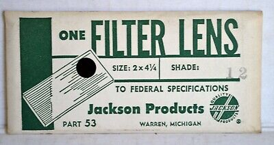 [L4] Vintage JACKSON Products LENS Shade No.12 For Welding Helmet NOS