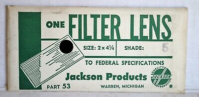 [L3] Vintage JACKSON Products LENS Shade No.5 For Welding Helmet NOS