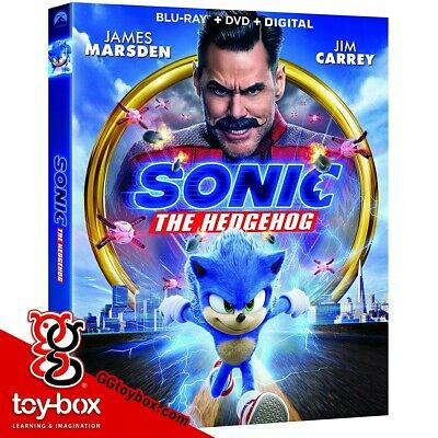 Sonic the hedgehog 2020 Blu Ray Dvd