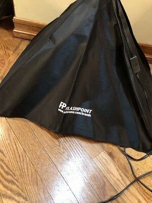 3 Flashpoint Silver lighting tents  with Softbox Bulbs And Case Included
