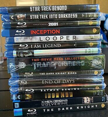 FACTORY SEALED Blu-ray Lot Action Sci-fi & Heroes 15 Titles Batman See Titles