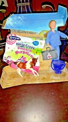 Breyer lot doll and stablemate horses