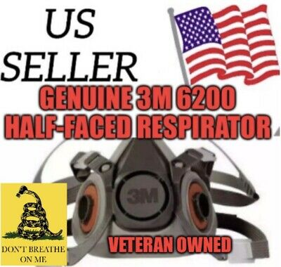 New 6200 Half Respirator Mask Size MEDIUM No Filters. (SHIPS FROM USA SAME DAY)