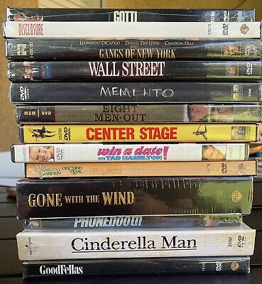 FACTORY SEALED DVD Lot Drama 13 Titles Gone W/The Wind Goodfellas Wall St & More