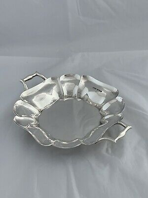 Solid Silver Fruit Dish Or Bowl 1929 Sheffield Pidduck & Sons Antique Silver