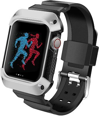 Apple Watch Series 4 44mm Case with Band 360 Angle iWatch Screen Protector