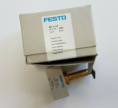 FESTO MC-2-1/8 2187 2/2 Way Solenoid Valve - New/Boxed Worldwide Shipping