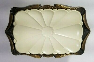 Vintage Amerock Wall Mount Soap Dish Antique Brass Carriage House