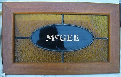 Stained Glass Window Panel MCGEE