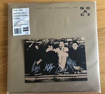 The 1975 Notes on a Conditional Form Neon Yellow Vinyl LP & signed Art Card seal