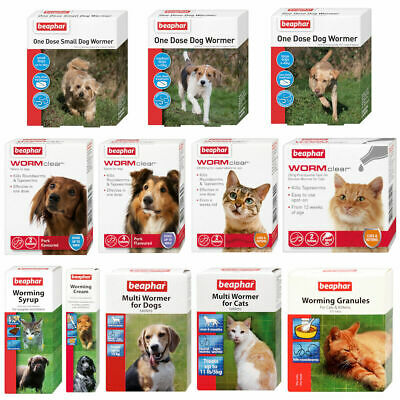 Beaphar Dogs & Cats Worming Wormer Treatments Tablets Spot On Roundworm Tapeworm