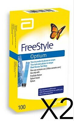 200 Tiras reactivas Freestyle Optium
