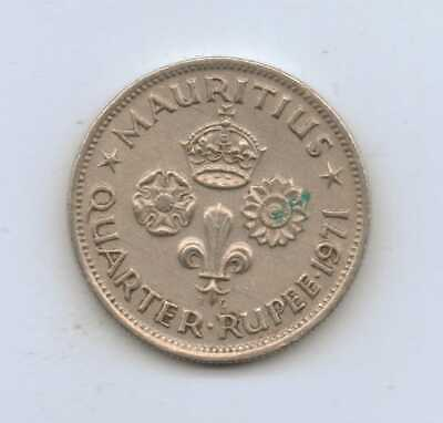 MAURITIUS - ¼ Rupee - Elizabeth II 1971 Copper-nickel • 2.95 g • ⌀ 19 mm