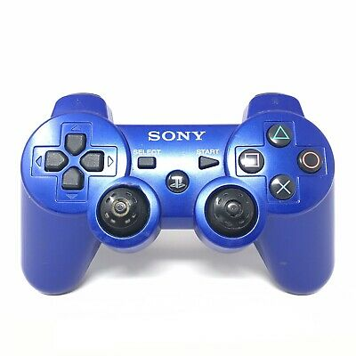 Official Genuine Sony PS3 Playstation 3 DualShock 3 Wireless Controller Blue