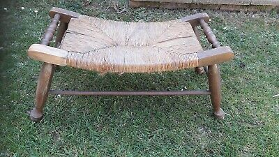 Vintage Wooden Saddle Foot Stool