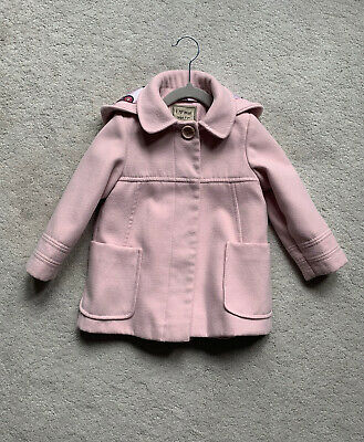 Next Beautiful Dusty Pink Coat 2-3 years old
