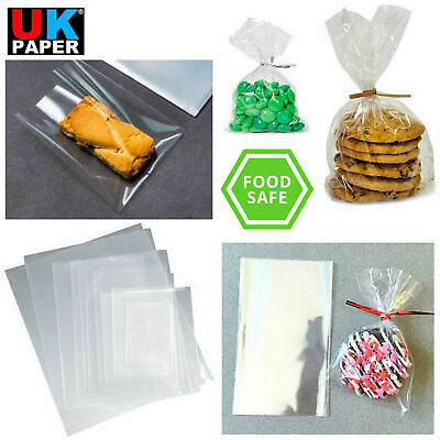 Clear Cellophane Cello Display Bags Sweet Candy Cake Pop Lollipop Kids Party Bag