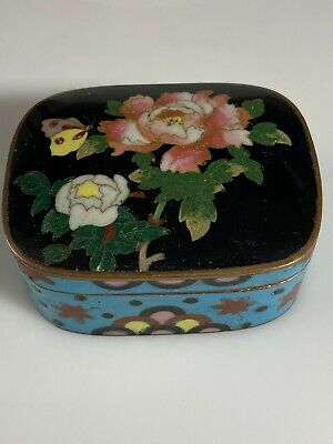 Antique Japanese Cloisonne Box Meiji Period Excellent