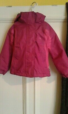 Trespass Girls Jacket Aged 2-3 Years In Pink